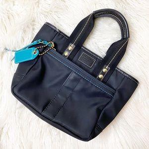 COACH black mini Hampton nylon bag